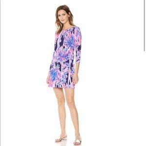 Lilly Pulitzer Sophie UPF 50 navy palms dress
